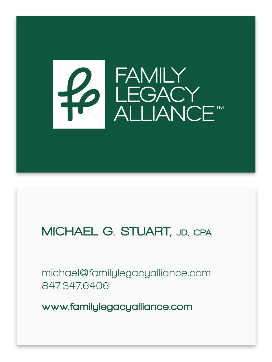Family Legacy Alliance Business Card